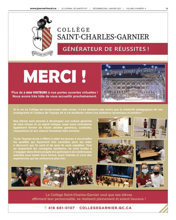Le journal de Sainte-Foy / Décembre 2020-janvier 2021