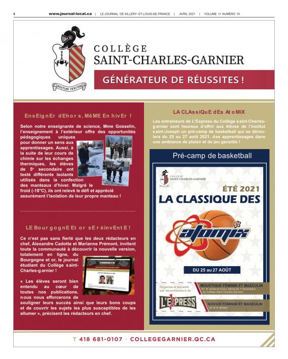 Le journal de Sillery-St-Louis-de-France / Avril 2021